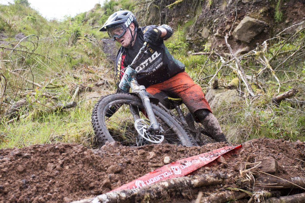 Mountain bike rider racing at the Grassroots Enduro Series