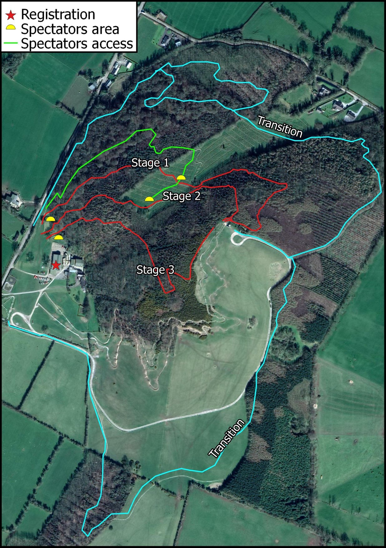 Bike Park Ireland Enduro trail map